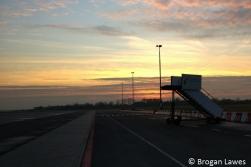 Sunset landing in Groningen